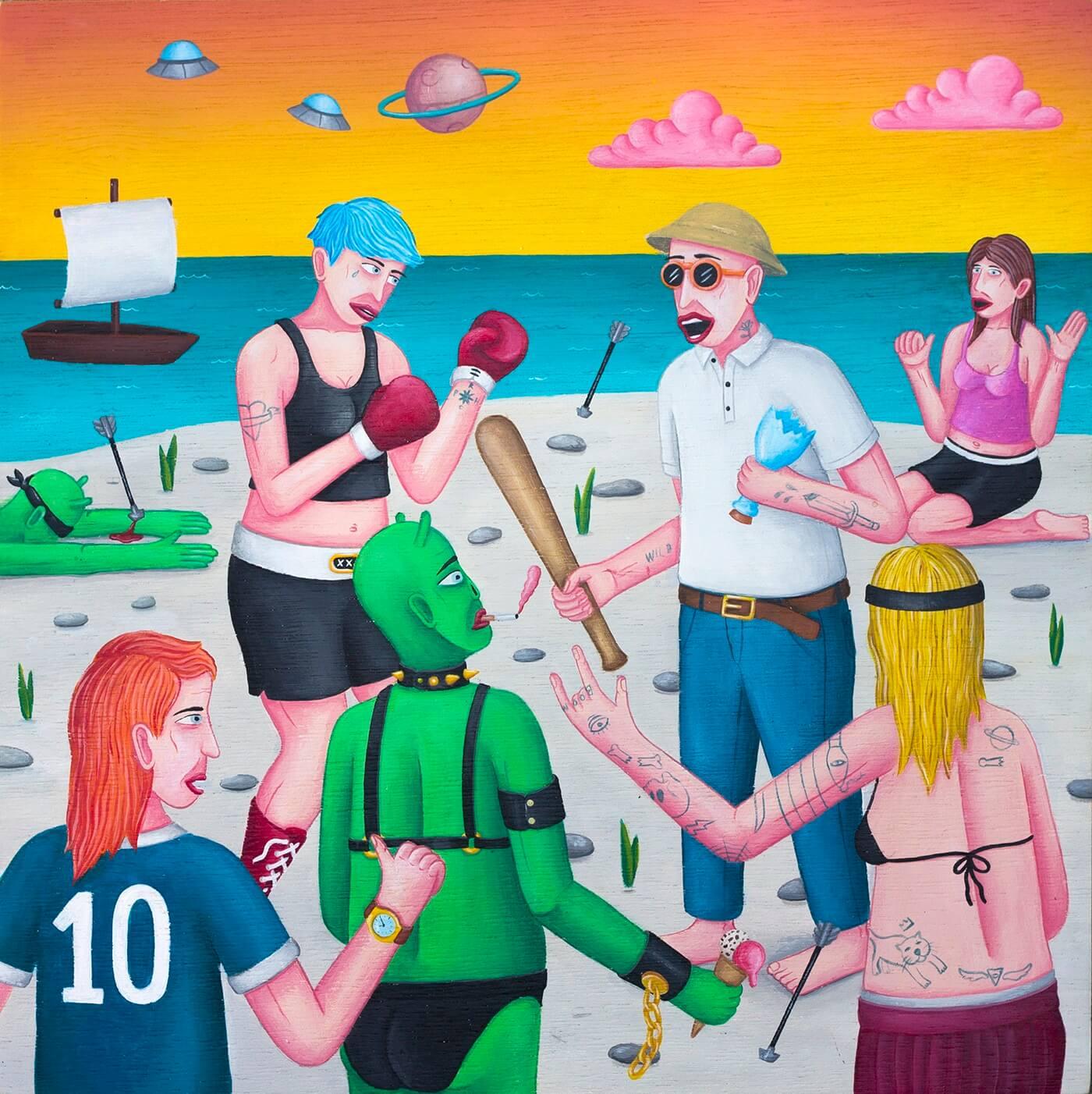 丁丁藝術空間(Ting Ting Art Gallery)Cane 《Box On the Beach》