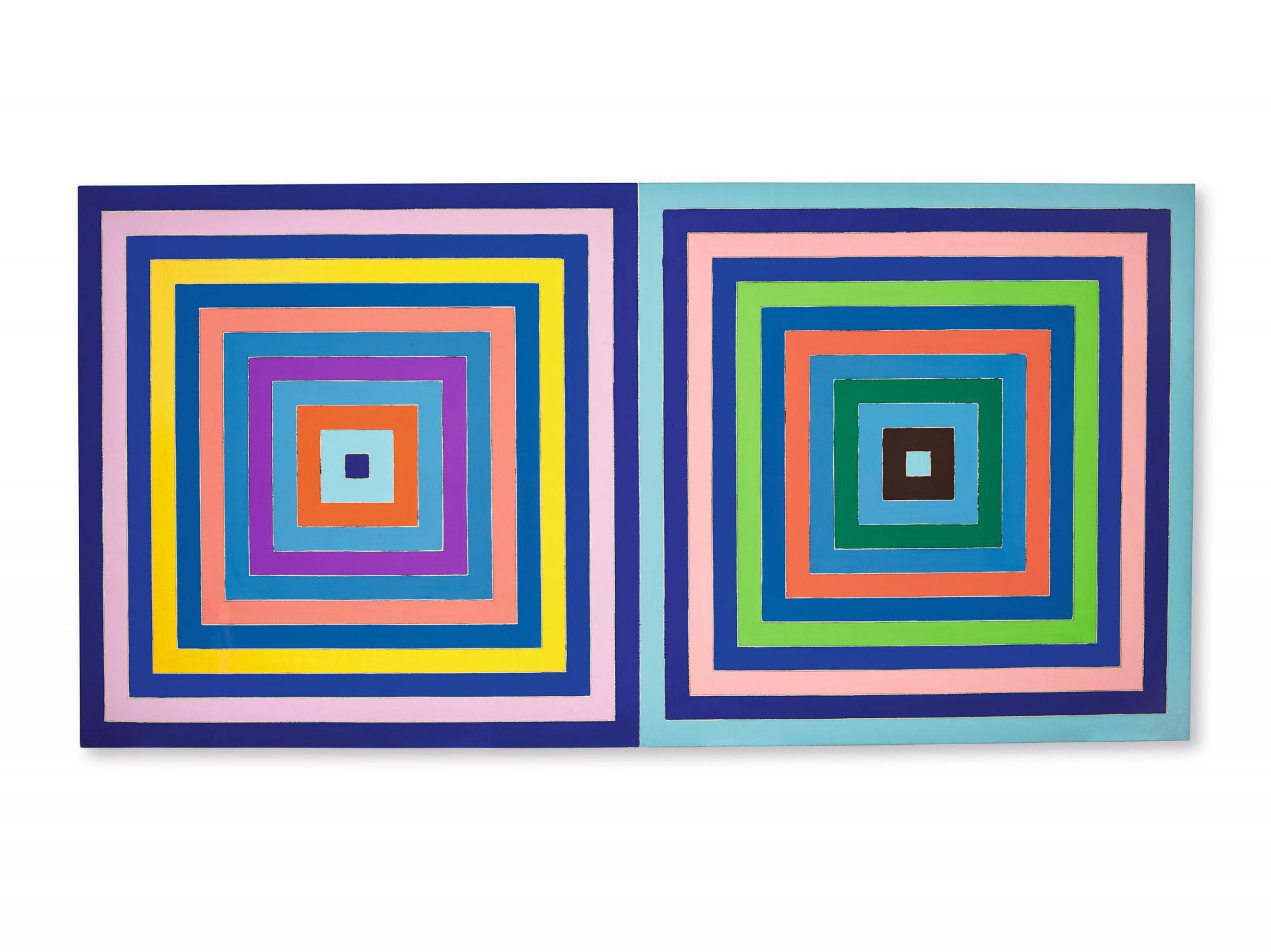 弗蘭克 ∙ 斯特拉(Frank Stella) 《無題(雙同心正方形)》 1978年作,壓克力畫布,205.5 x 408.5公分 估價:32,000,000 - 48,000,000港元