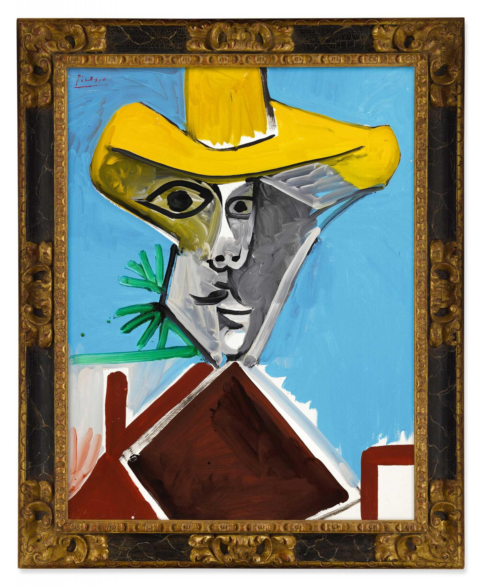 巴布羅・畢卡索(Pablo Picasso)《男子半身像》 1969年作,油畫畫布,116 x 89 公分 估價:93,000,000 - 143,000,000港元