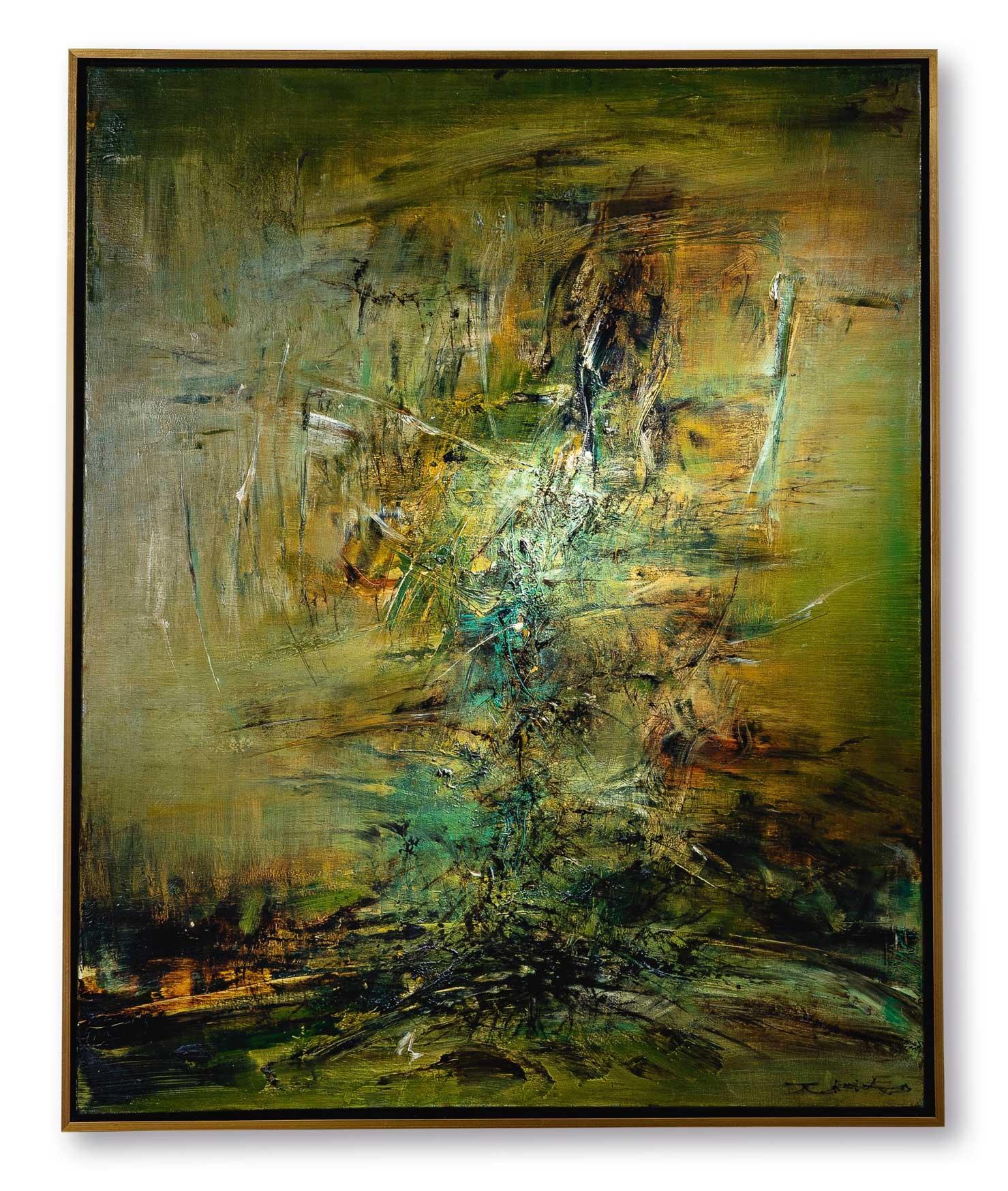趙無極《14.05.63》 1963年作,油畫畫布,100 x 80.5 公分 估價:30,000,000 - 50,000,000港元
