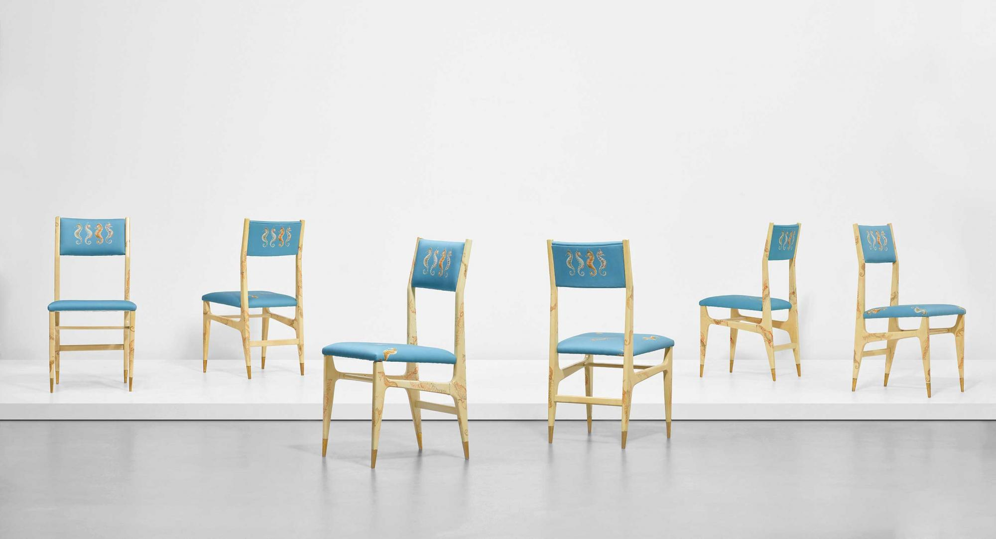 Gio-Ponti-and-Piero-Fornasetti_Set-of-six-prototype-dining-chairs,-early-1950s.jpg
