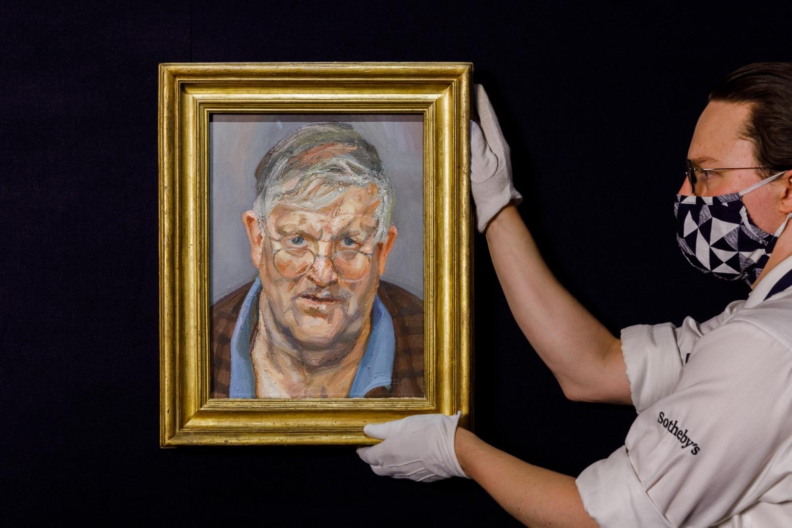 Lot 10- David Hockney, Lucian Freud,  in situ 3.jpg