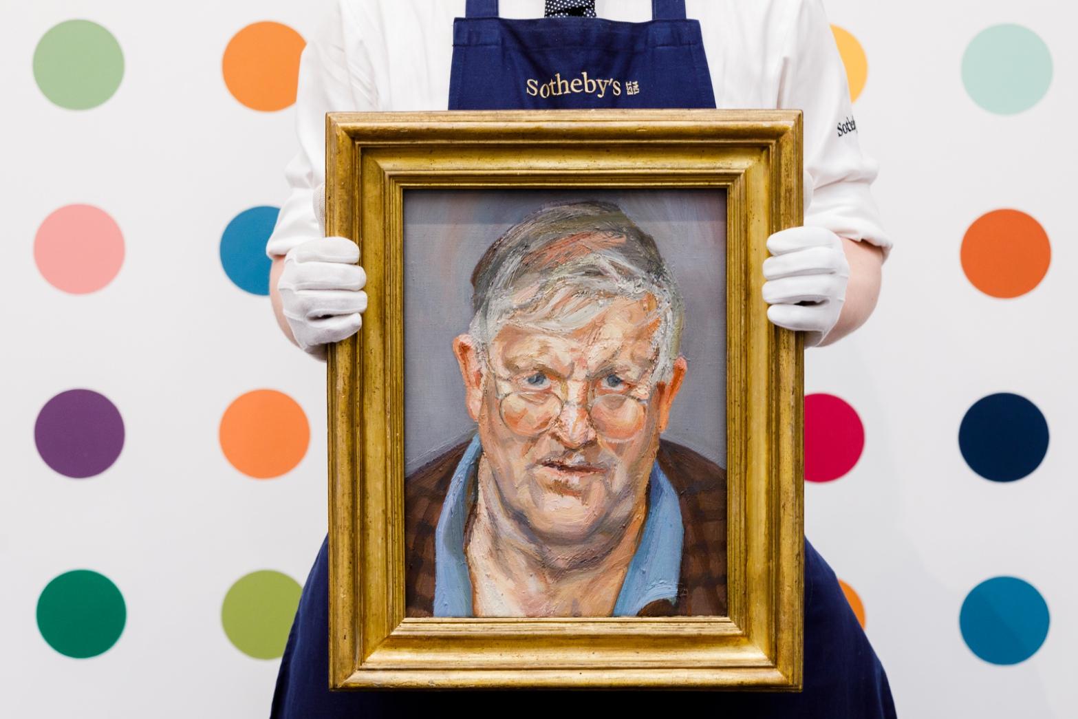 Lot 10- David Hockney, Lucian Freud,  in situ.jpg