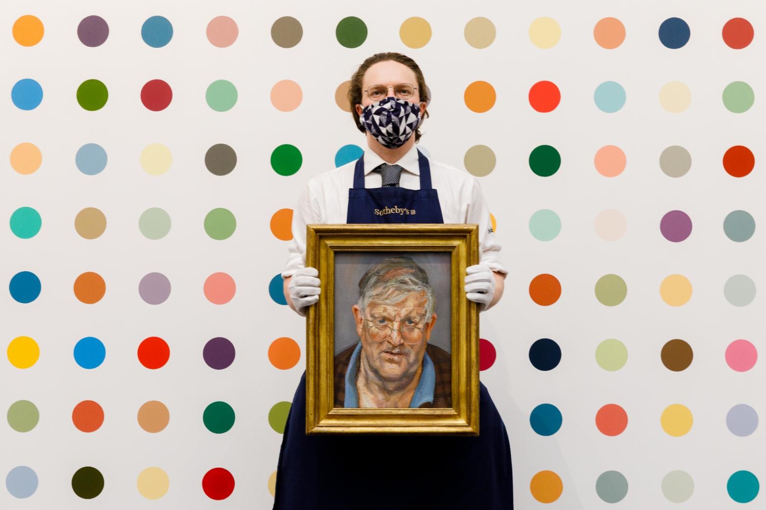 Lot 10- David Hockney, Lucian Freud, in situ 4.jpg