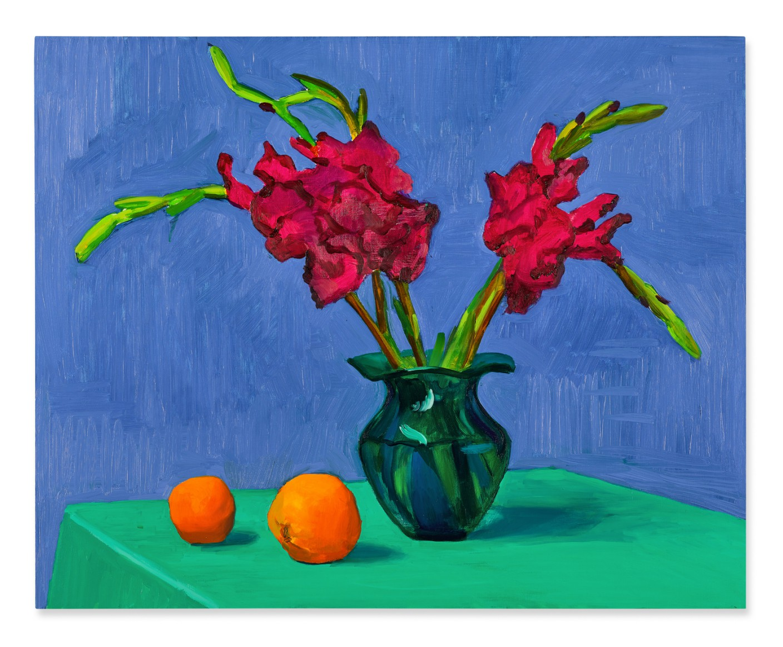 Lot 4- David Hockney, Gladioli with Two Oranges, 1996, est_ 1,500,000- 2,000,000.jpg