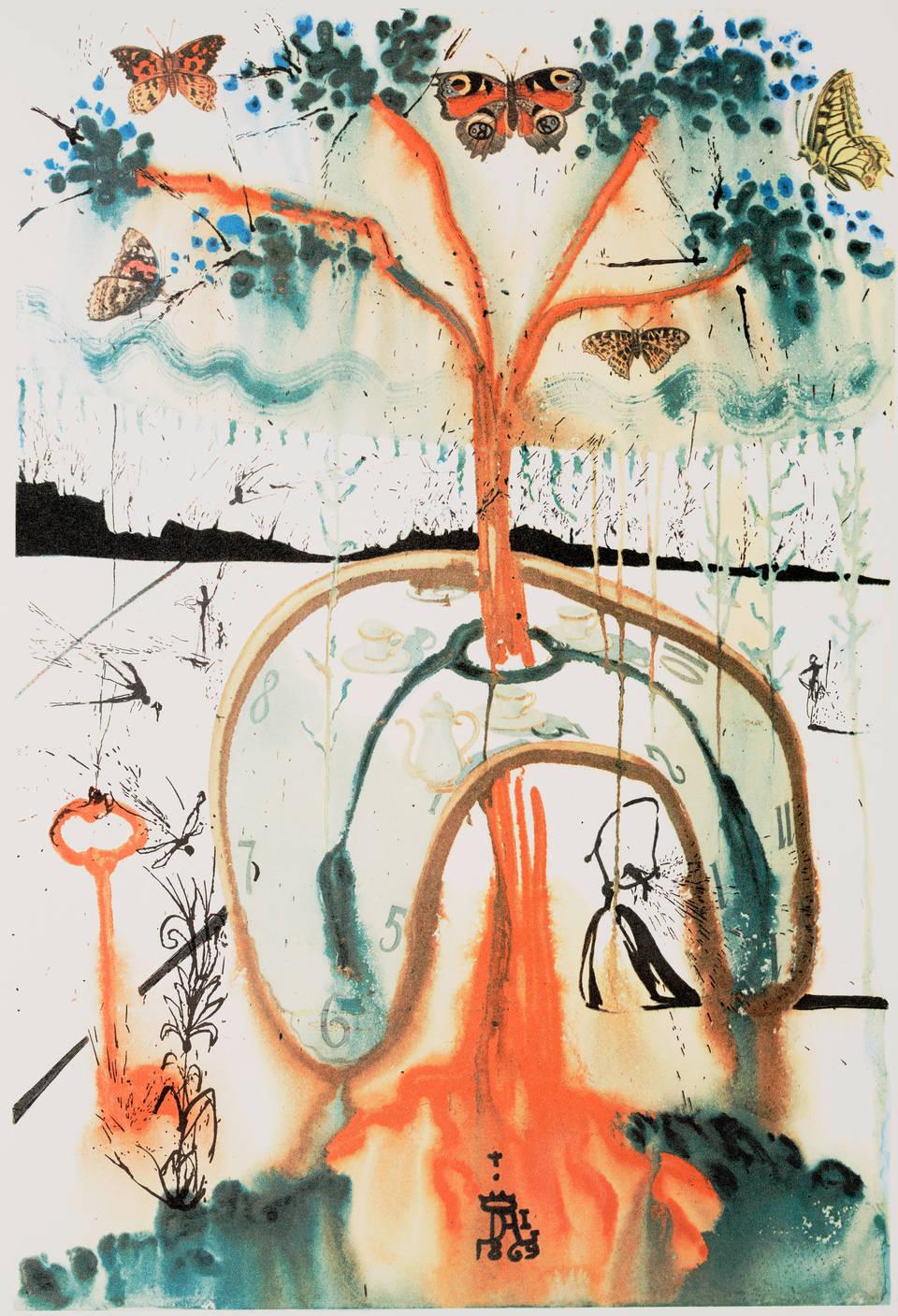 一場瘋狂的茶會,薩爾瓦多·達利,1969 年。 © 薩爾瓦多·達利,Fundació Gala-Salvador Dalí,DACS 2019
