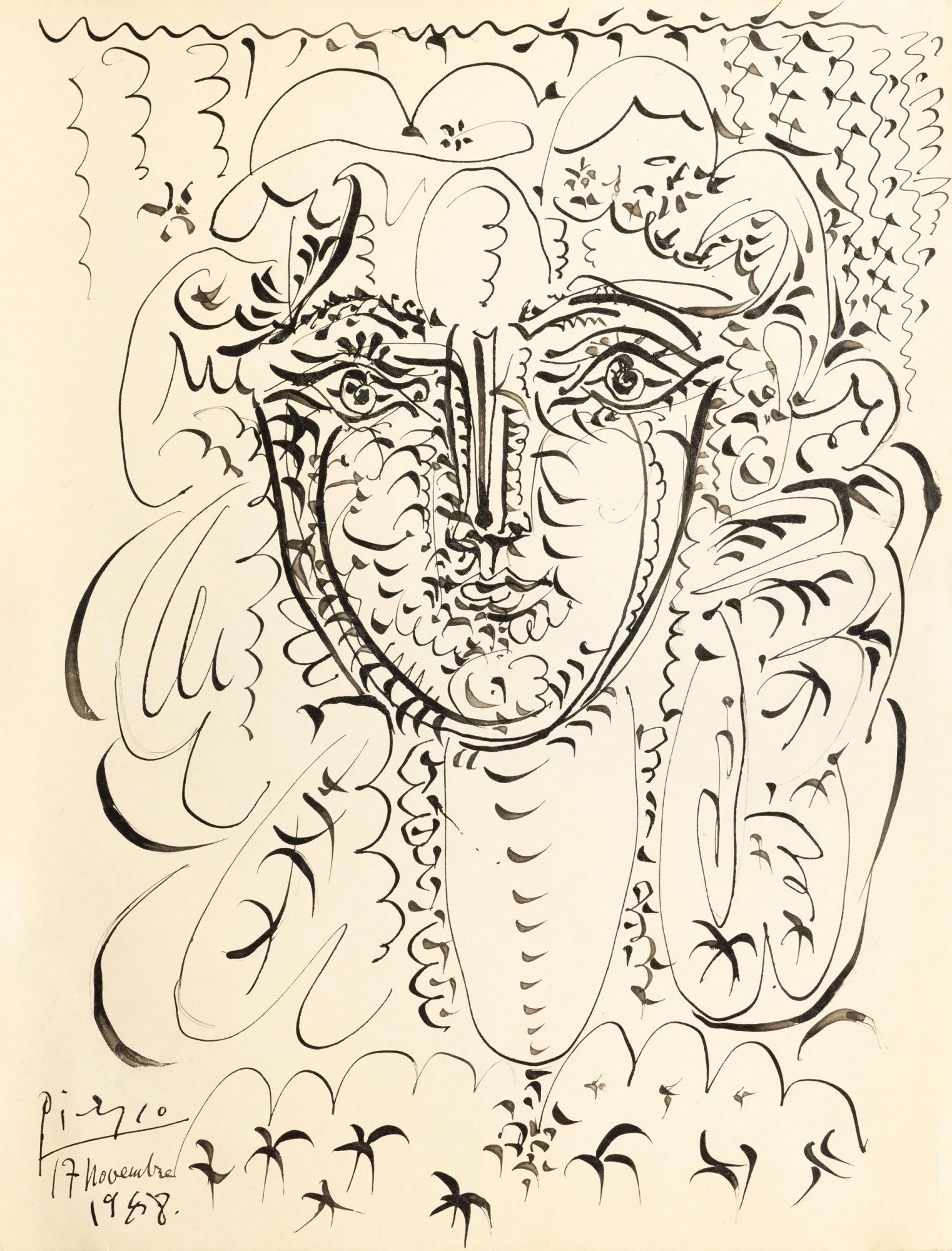 Lot-101,-Pablo-Picasso,-Portrait-de-Françoise,-1948,-pen-and-ink-on-paper-(est.jpg