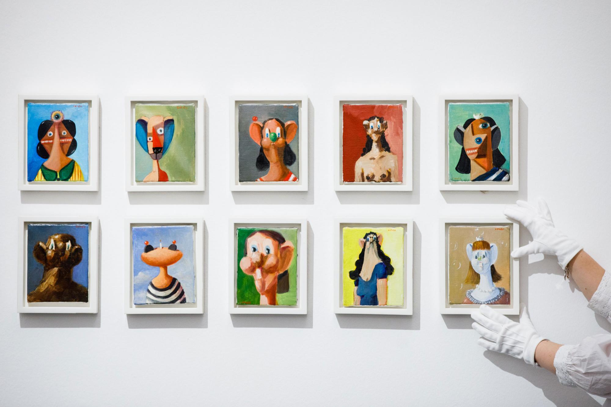 George-Condo,-Ten-Small-Portraits,-est.jpg