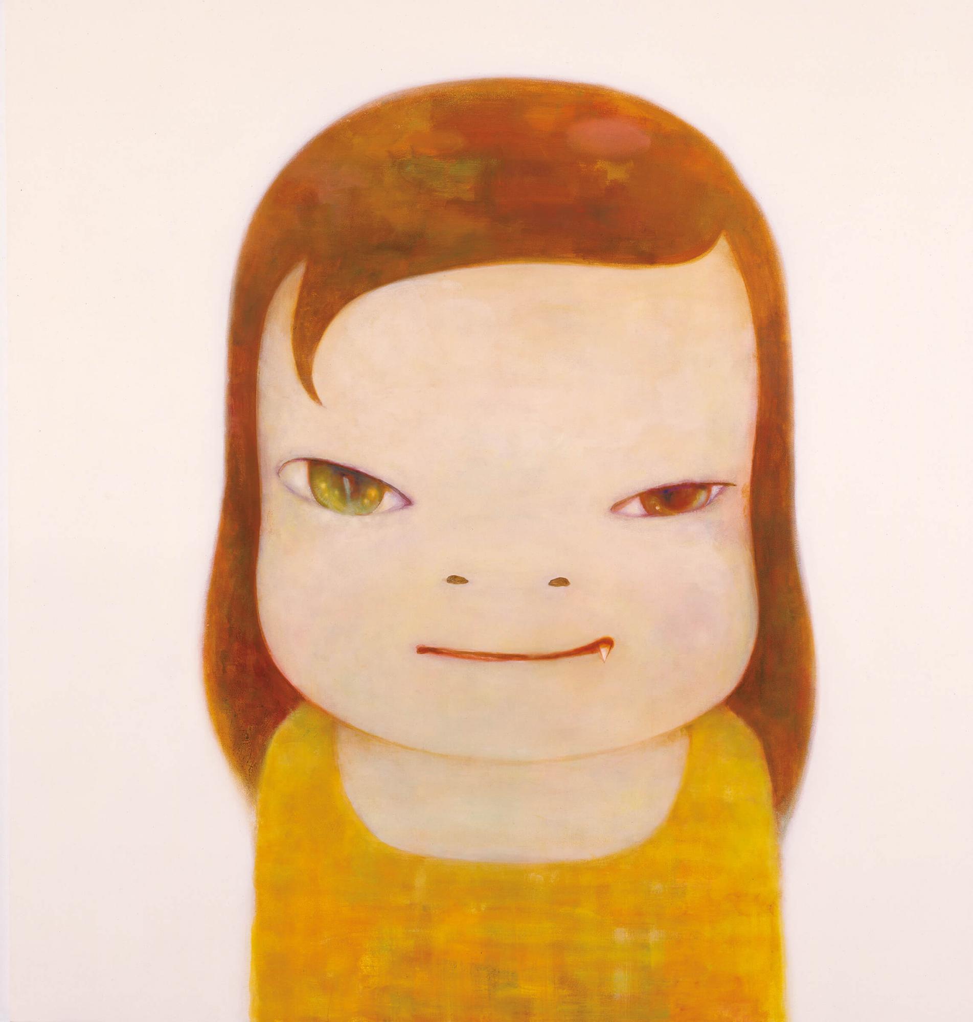 奈良美智 (1959年生 ) 《等不及夜幕降臨》壓克力 畫布 193.2 x 183.2公分 (76⅛ x 72⅛吋) 2012年作 估價待詢