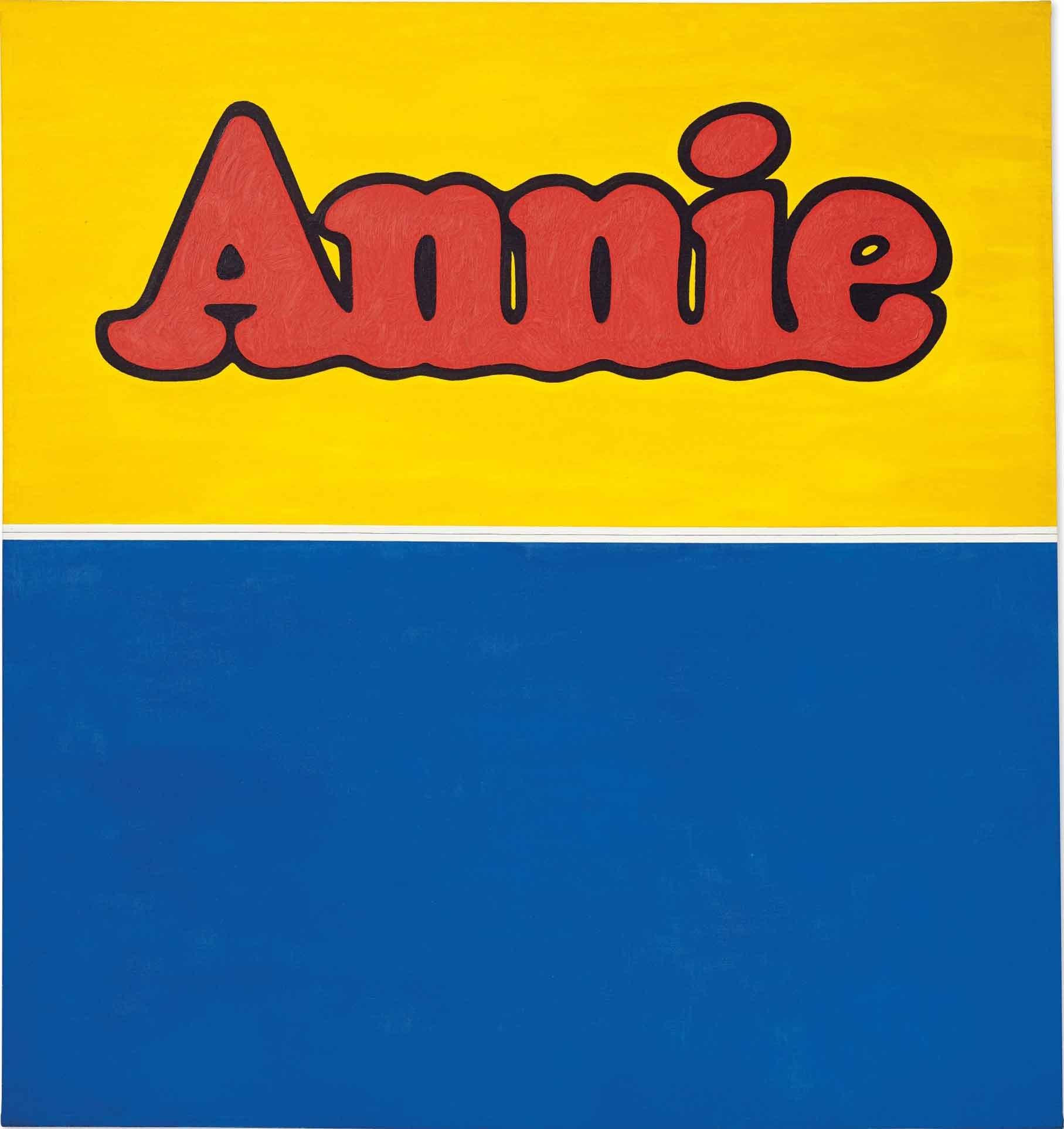 埃德·拉斯查,《Annie》,181 x 169.5公分,油彩、石墨、畫布,1962。