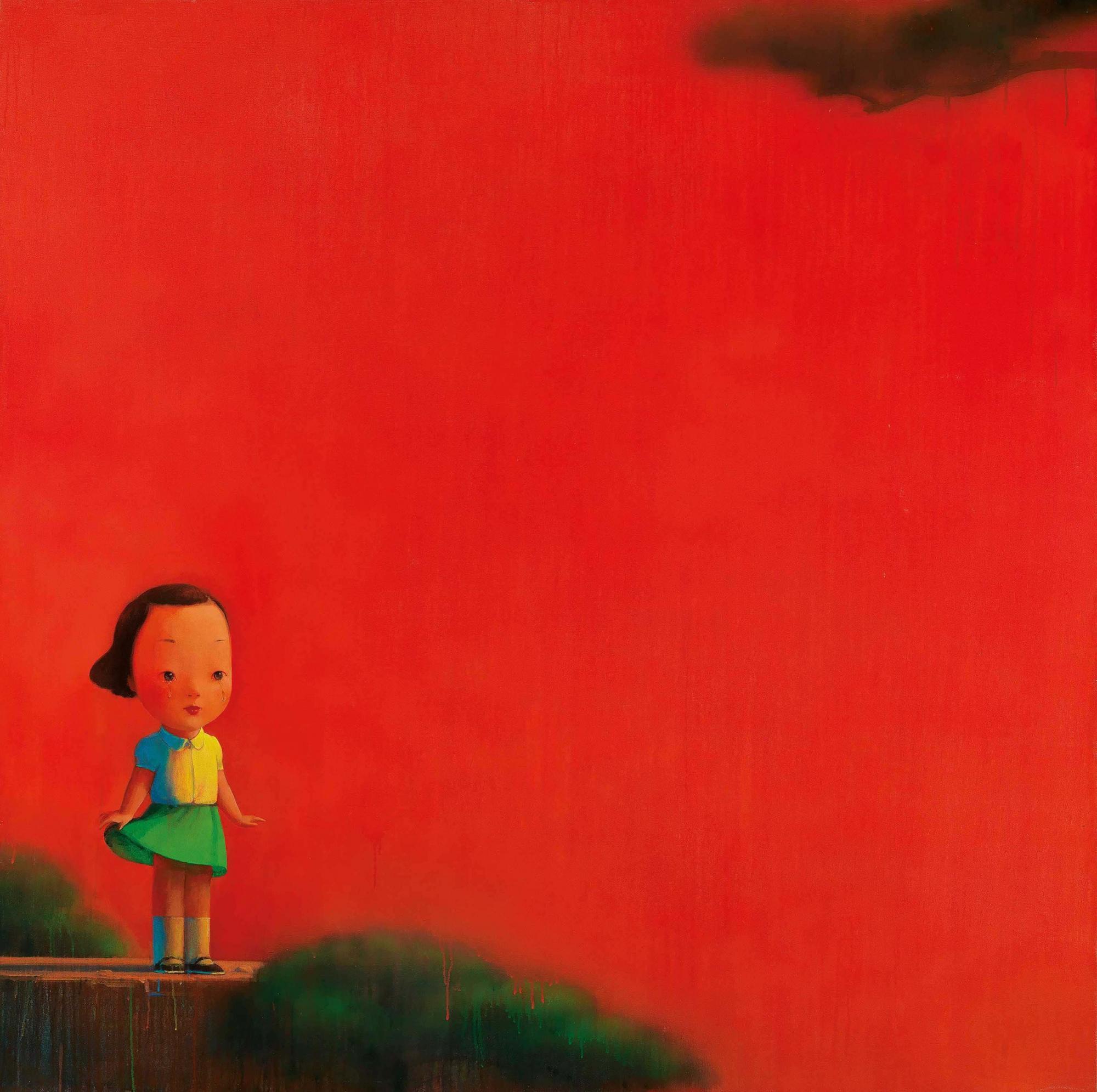 劉野(196年生 ) 《紅 2號》 壓克力 畫布 195 x 195公分 (76 3/4 x 76 3/4吋) 2003年作 港幣 12,000,000-18,000,000 / 美元 1,600,000-2,300,000