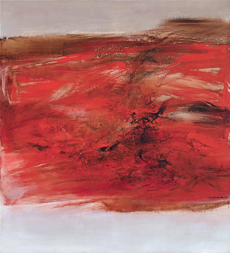 趙無極,《21.10.63》,1963年作。油彩 畫布。200 x 180公分。