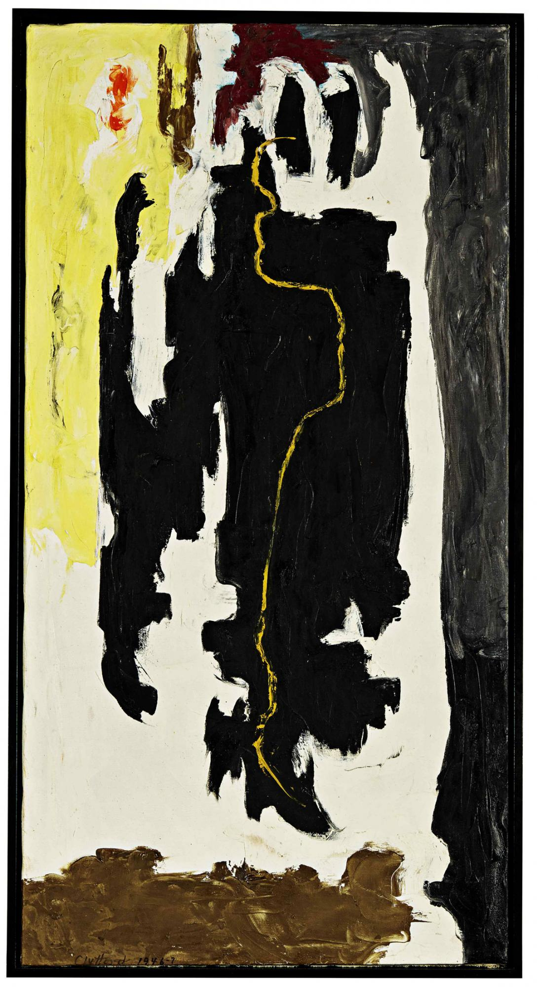 克里夫・斯蒂(Clyfford Still)《PH-306》 1946-1947年作,油畫畫布, 136.5 x 71.2公分