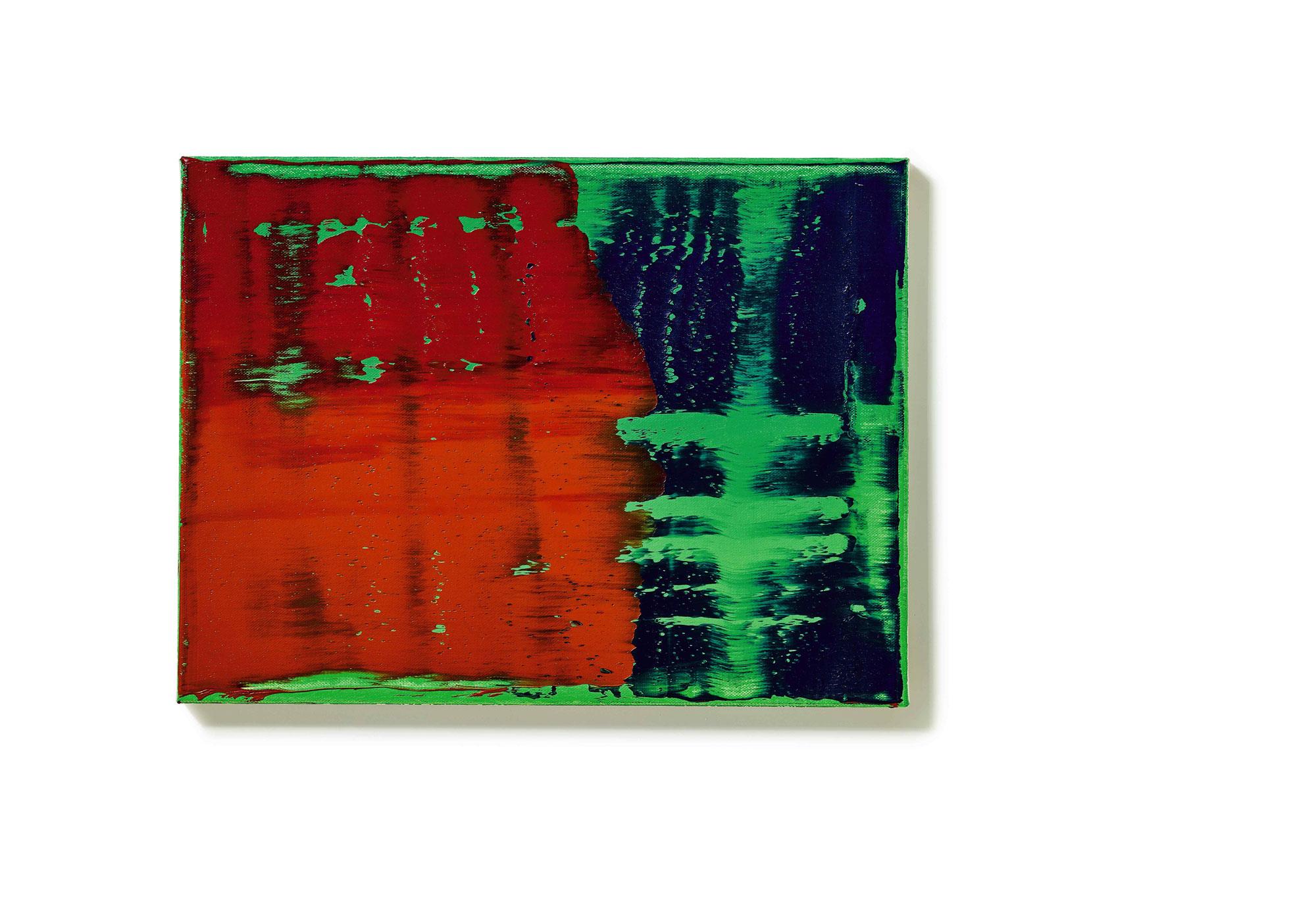 格哈德 · 里希特(Gerhard Richter) 《綠藍紅》 1993年作,油畫畫布 30 x 40 公分