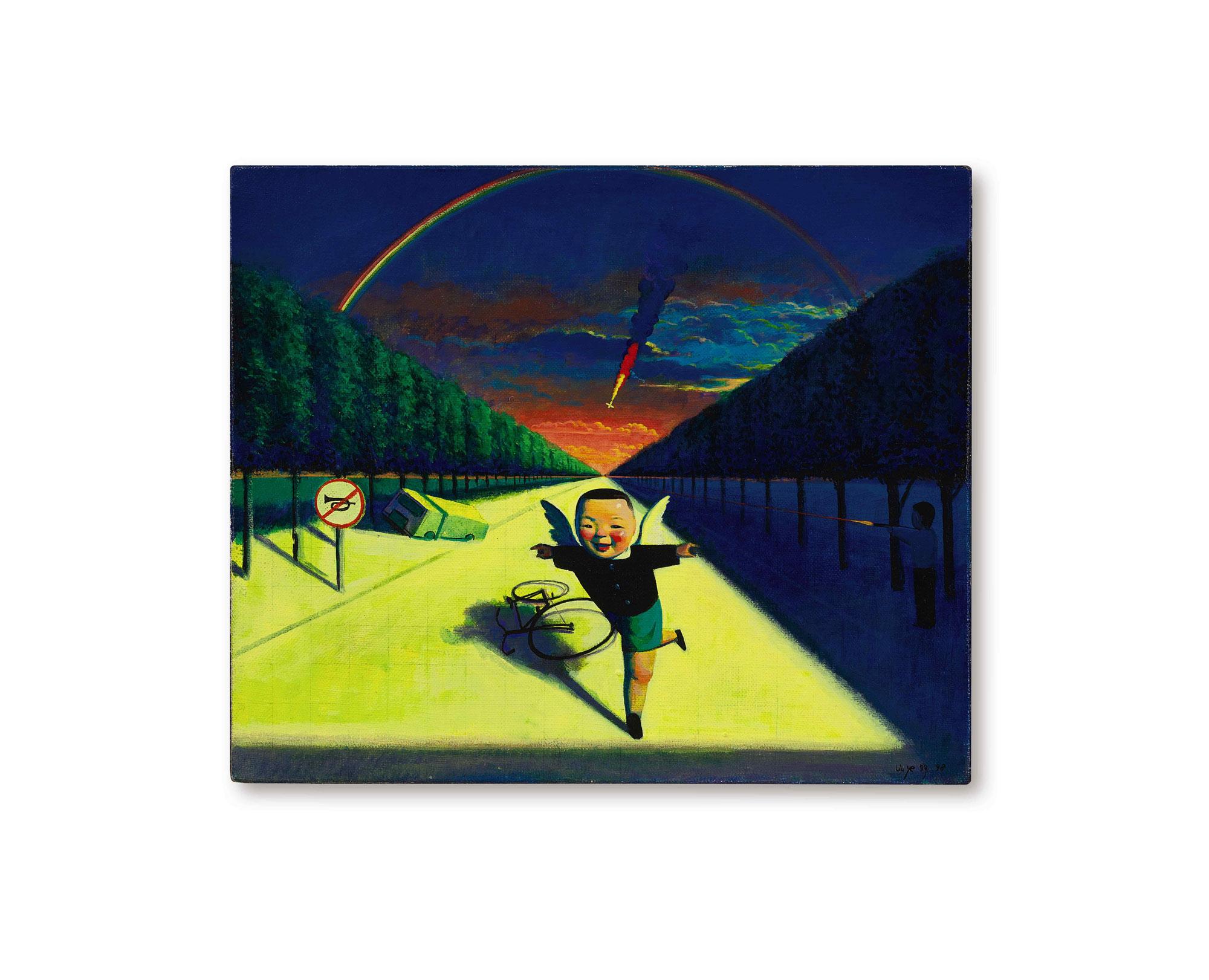 劉野 《喜悅》 1998年作,壓克力畫布 38 x 45.5 公分
