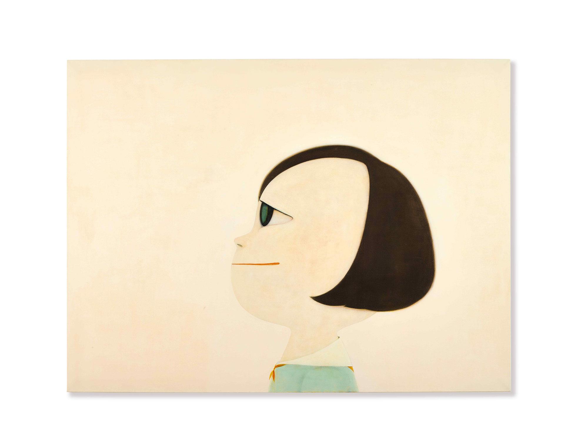奈良美智《振作》 2001年作,壓克力畫布,193.5 x 259.3 公分