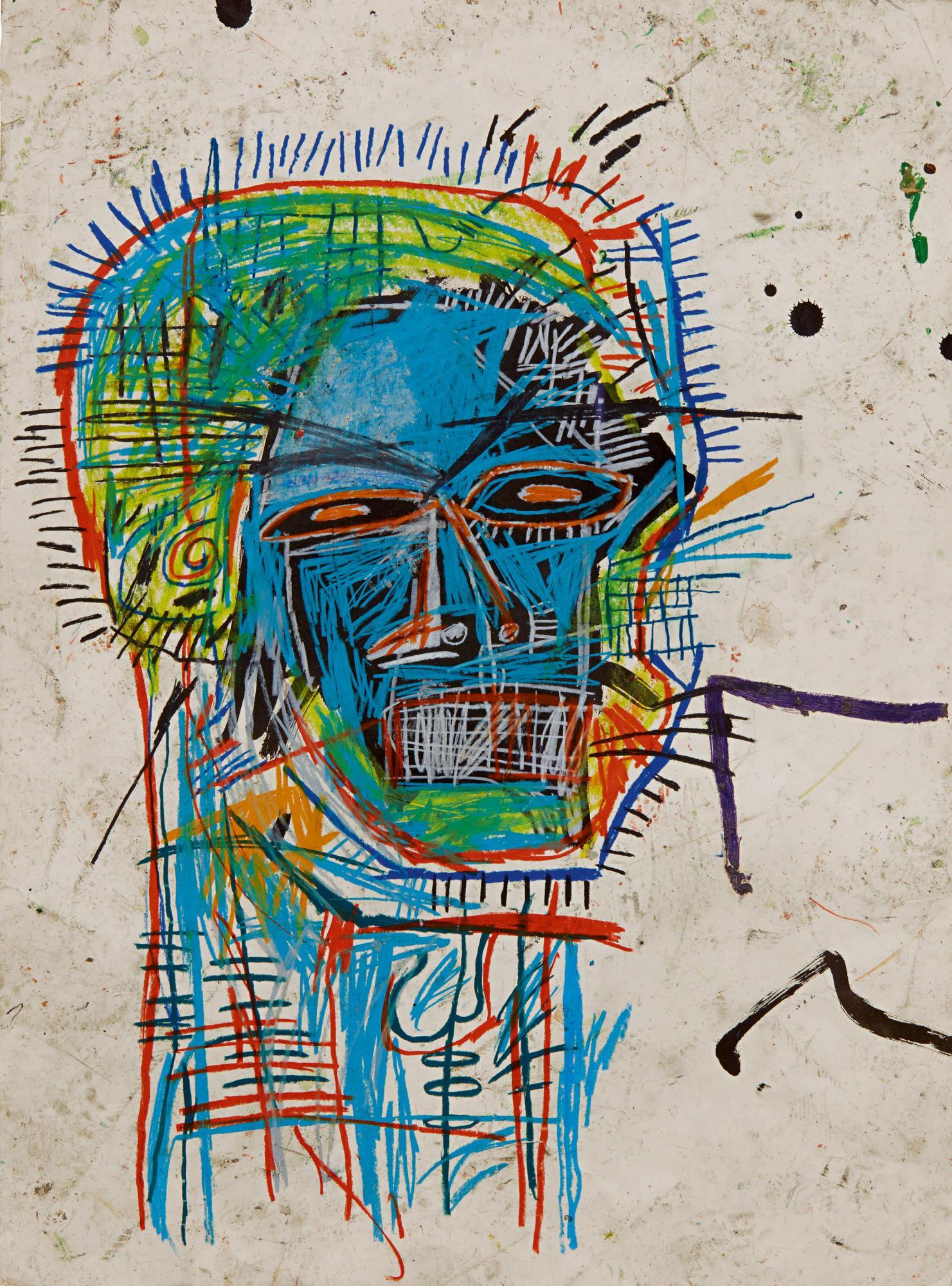 尚・米榭・巴斯奇亞(Jean-Michel Basquiat),《無題(頭部)Untitled(Head) 》,1982。