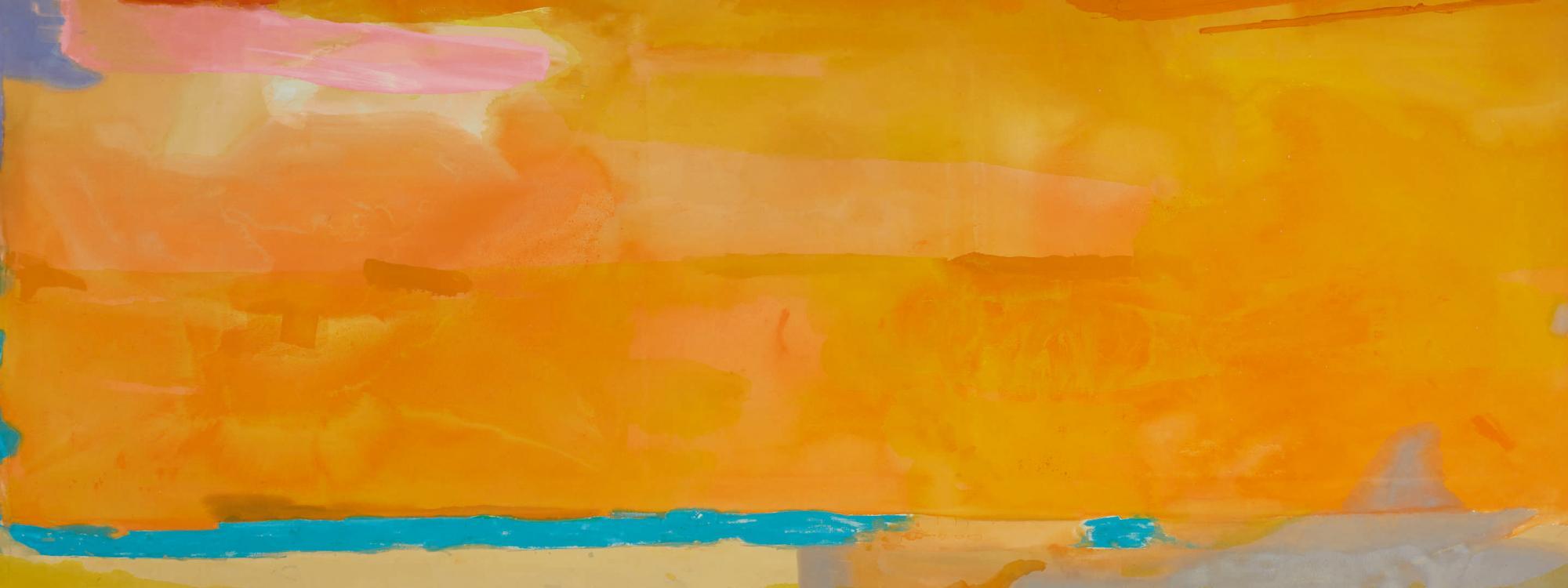 海倫・弗蘭肯塔勒(Helen Frankenthaler),《皇家煙花(Royal Fireworks)》,1975。