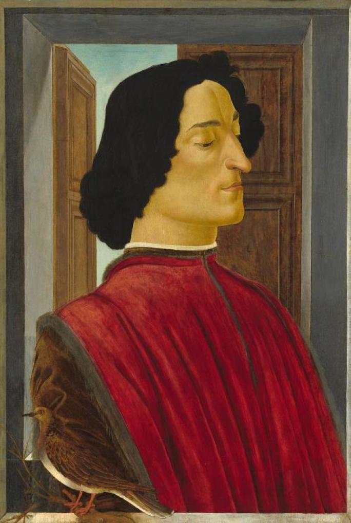 波提切利,《朱利亞諾・德・美第奇肖像》 ,1470 年代末至 1480 年代。