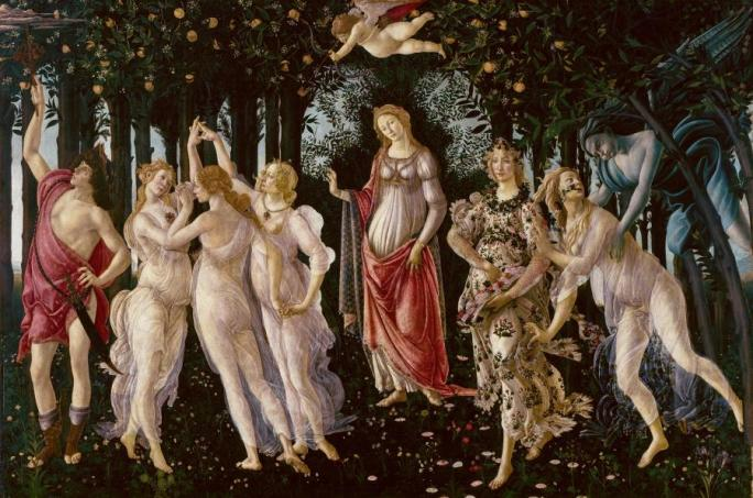 波提切利,《春》,1470年代末至1480年代。