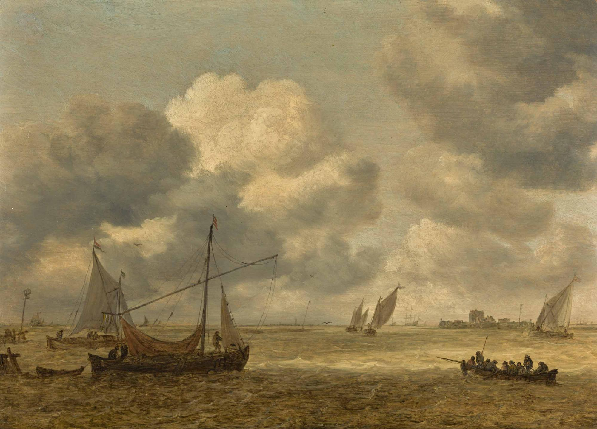 Lot-21-Jan-Josefsz-van-Goyen-Coastal-Scene-with-Small-Vessels.jpg