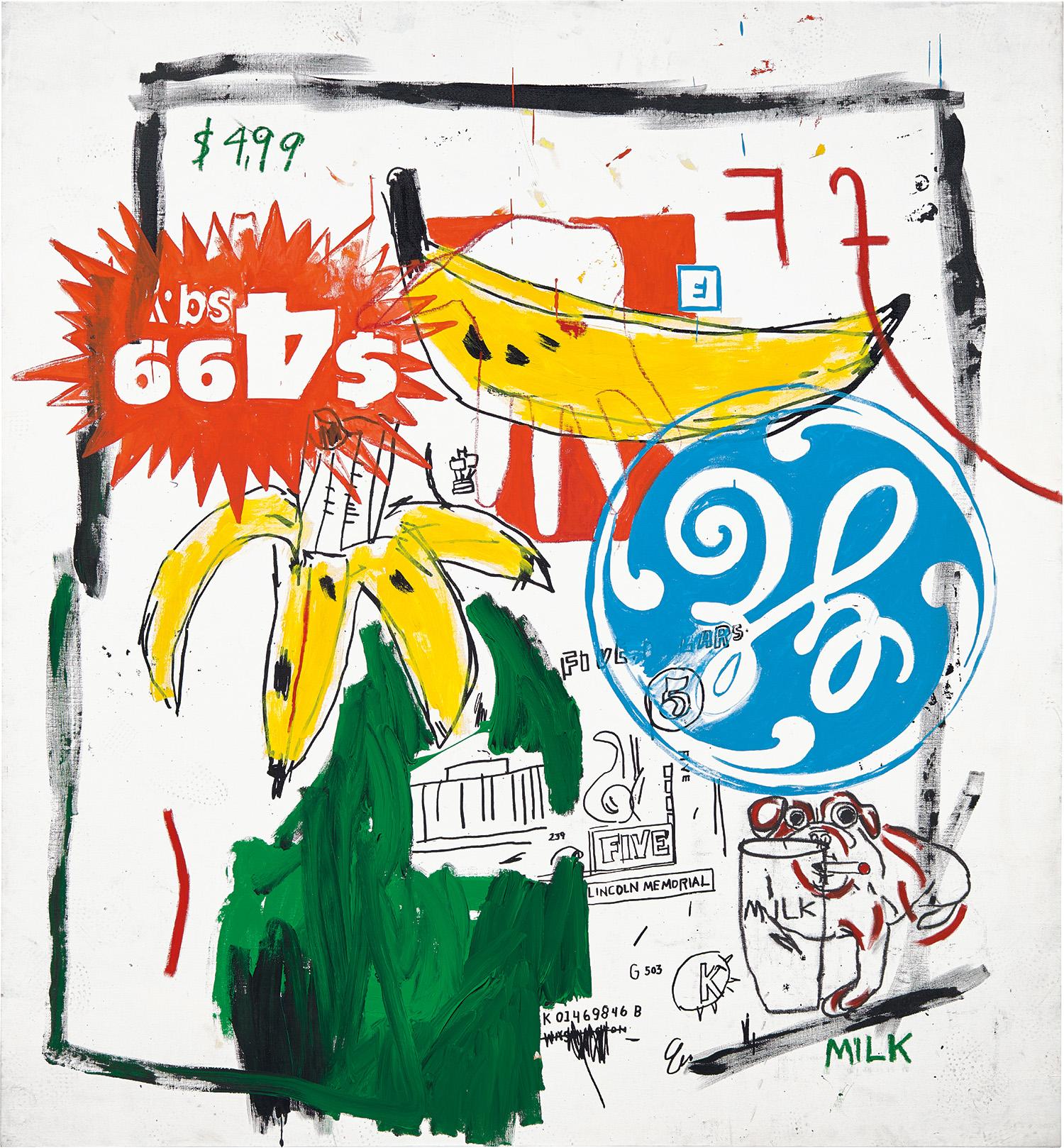 Jean-Michel Basquiat and Andy Warhol, Bananas.jpg