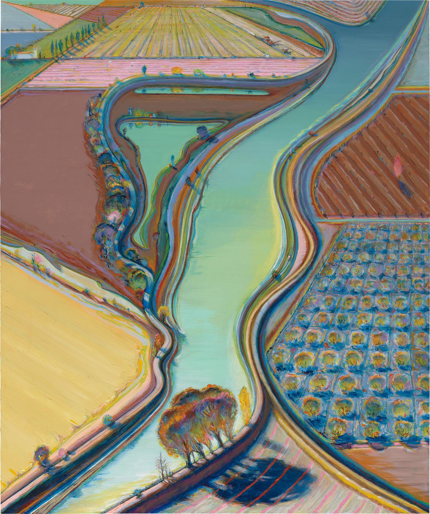 Wayne Thiebaud, Winding River.jpg